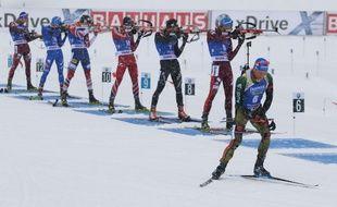 La Coupe du monde de biathlon à Hochfilzen, le 9 décembre 2017.