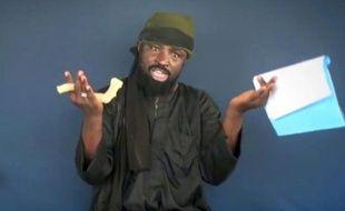 Capture d'écran faite le 18 février 2015 d'une vidéo diffusée par Boko Haram montrant le leader du groupe islamiste, Abubakar Shekau, en train de diffuser un message depuis un endroit non précisé