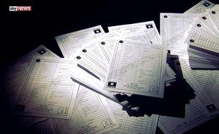 Les fameux documents contenant les noms de 22.000 (sans doute moins) combattants de Daech.
