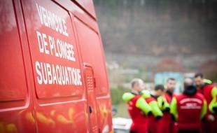 Des pompiers spécialisés lors d'inondations (Illustration)