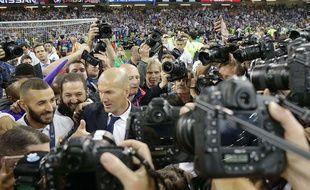 Zinedine Zidane après la victoire face à la Juventus