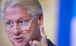L'ex-président américain Bill Clinton le 7 janvier 2016 à Dubuque (Iowa)