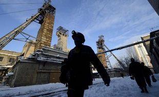 Vue de la mine de charbon de Kalinina, à Donetsk, le 1er décembre 2014