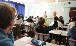 NANTES le 05/09/2011 Rentrée scolaire dans un lycee de Nantes