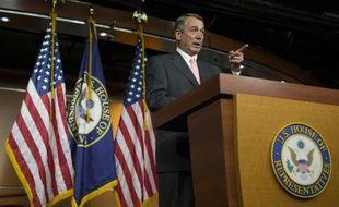 Le président du Congrès américain, John Boehner, s'exprime durant une conférence de presse, le 25 septembre 2015 à Washington