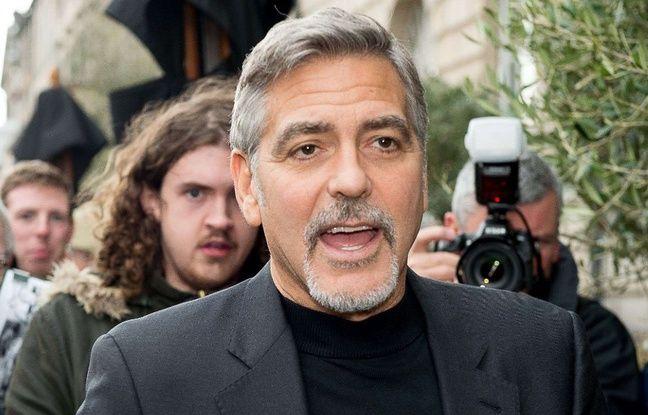 L'acteur George Clooney à Édimbourg le 12 novembre 2015