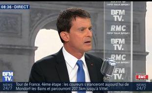 Manuel Valls sur BFMTV le 04/07/2017.