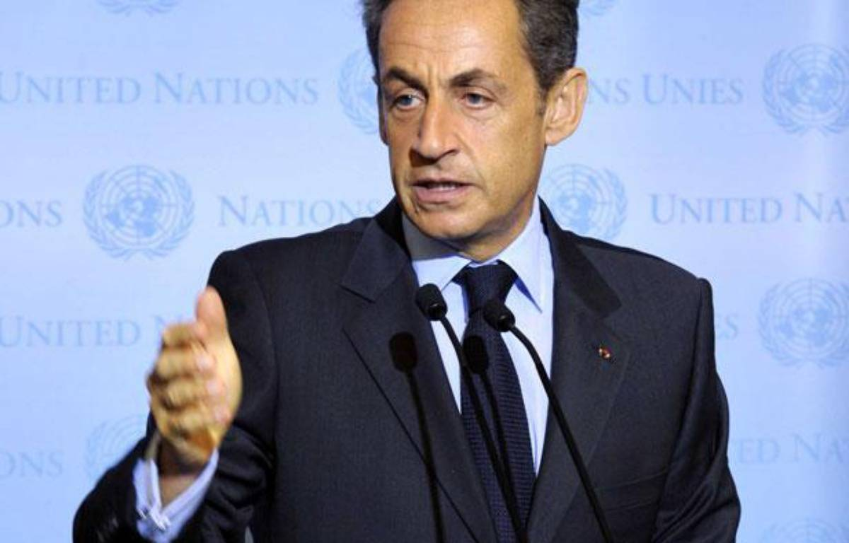 Le président français Nicolas Sarkozy aux Nations unies, le 20 septembre 2011 à New York, aux Etats-Unis. – UN Photo/Eskinder Debebe /Sipa Press