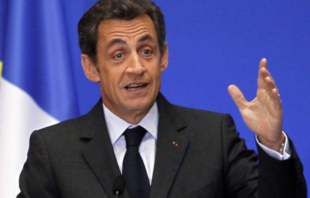 Nicolas Sarkozy, le 1er mars 2010 à Paris. – REUTERS