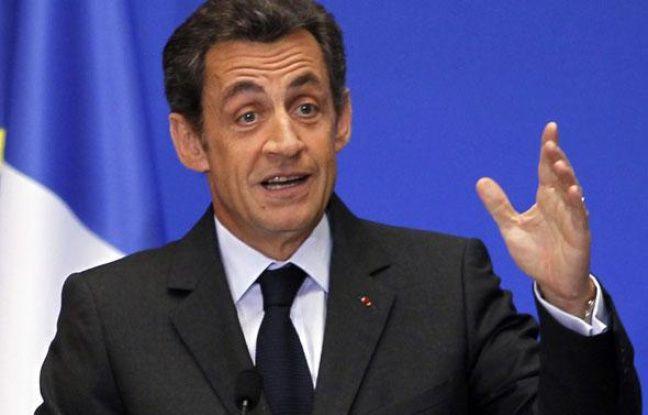 Nicolas Sarkozy, le 1er mars 2010 à Paris.