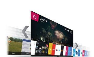 L'interface WebOS présente sur les téléviseurs connectés LG.