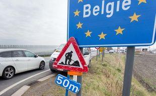 Illustration de la frontière belge.