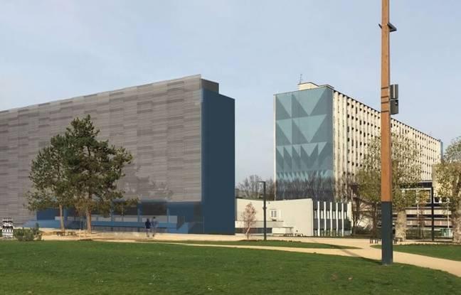 L'apparence future du bâtiment de l'institut de physiologie et de chimie biologique, au centre du campus de Strasbourg.