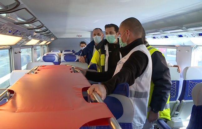 VIDEO. Coronavirus à Strasbourg: Les premiers patients embarqués dans le TGV médicalisé en direction des Pays-de-la-Loire