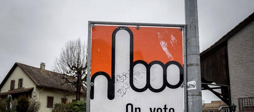 Une affiche incitant au vote en Suisse. (illustration)