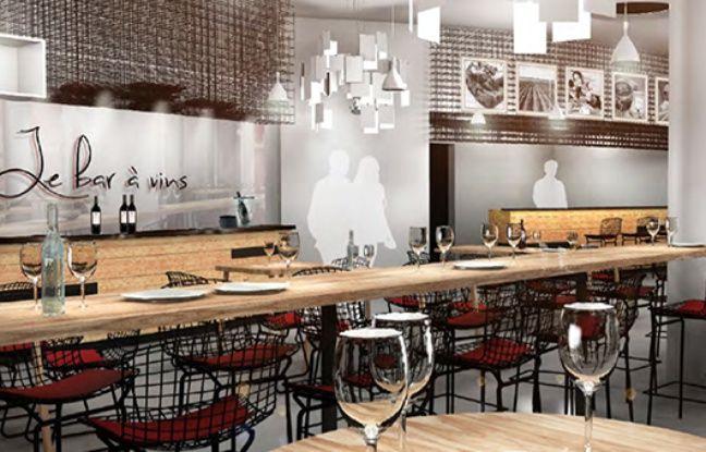 Image du futur bar à vins de la Cité du vin de Bordeaux