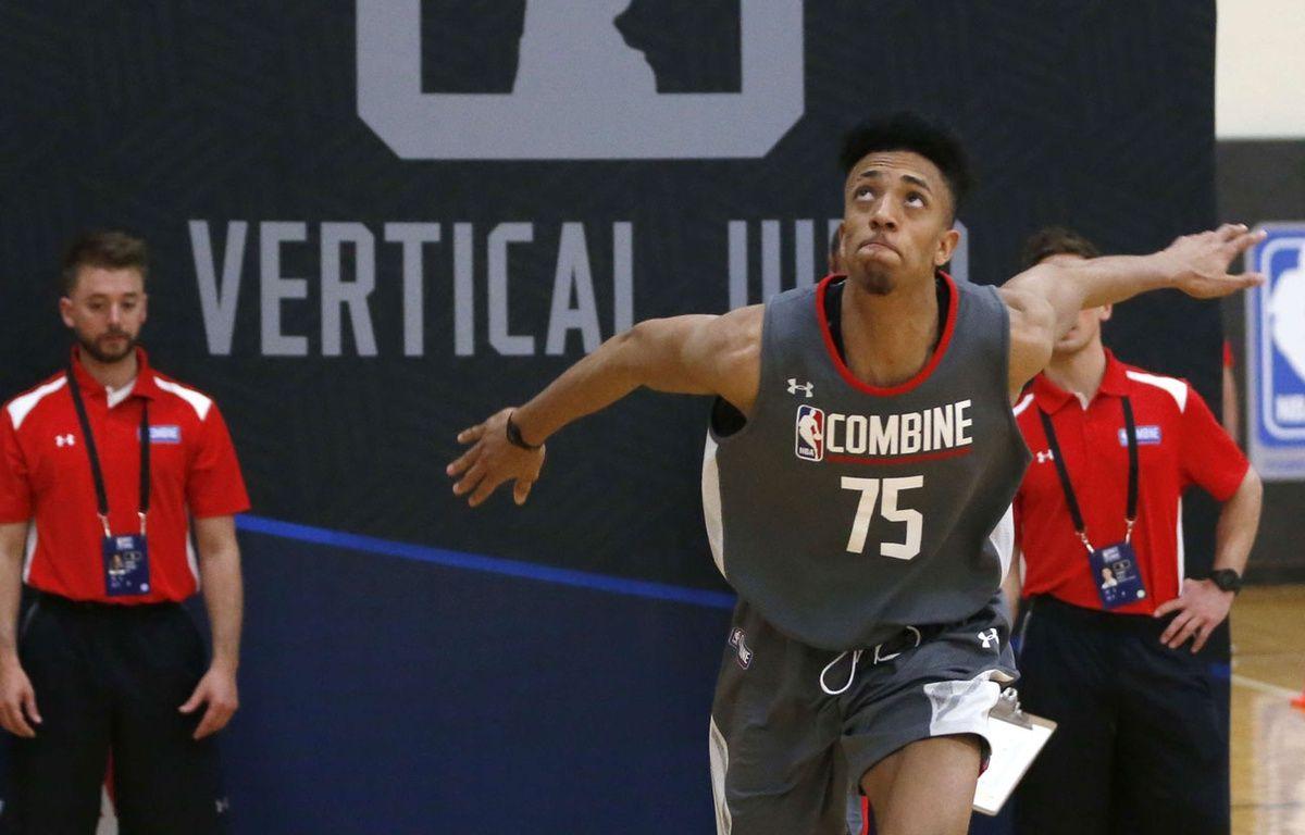 Jonathan Jeanne lors des tests en NBA. – Charles Rex Arbogast/AP/SIPA