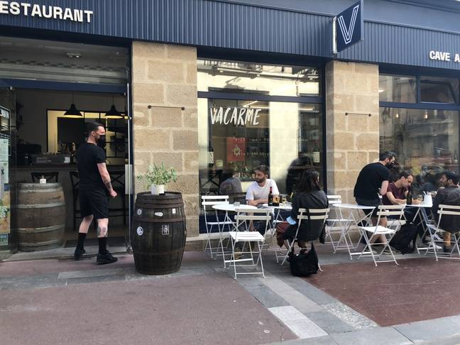 Le restaurant Vacarme de Sarah Mainguy, à Nantes, le 10 juin 2021