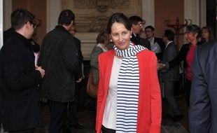 La minsitre de l'Ecologie ségolène Royal, le 3 avril 2014 à Poitiers