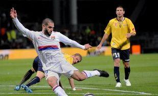 L'attaquant de l'Olympique Lyonnais, Lisandro Lopez, lors du match de la 9e journée de L1 face à Sochaux, le 17 octobre 2009.