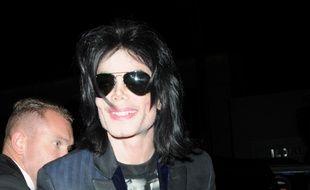 Le chanteur Michael Jackson en 2008