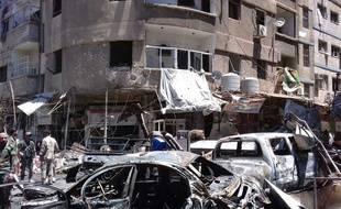 L'attentat a eu lieu dans l'Est de Damas. Illustration.