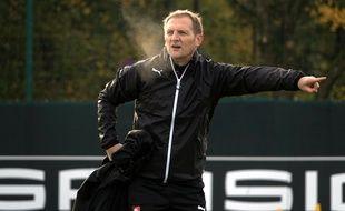 L'entraîneur adjoint Jean-Marc Kuentz, ici à la Piverdière.
