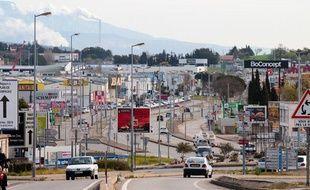 La zone commerciale de Plan de campagne à Cabriès le 9 avril 2013.