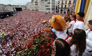 Les fêtes de Bayonne le 30 juillet 2015.