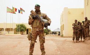 Un soldat malien à Sévaré, le 30 mai 2018 (image d'illustration).