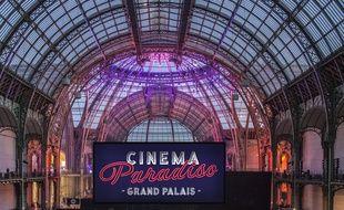 La nef du Grand Palais aux couleurs de l'événement Cinema Paradiso