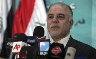Haidar Al-Abadi en conférence de presse, le 8 février 2010.