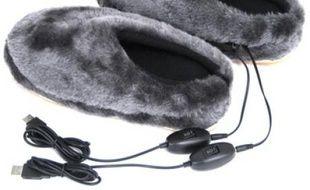 Les chaussons à prise USB qui chauffent