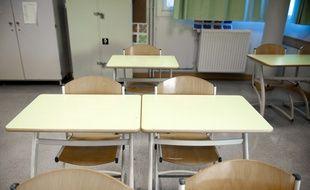 Une salle de classe. (Illustration)