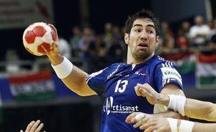 Le handballeur français Nikola Karabatic, lors d'un match de l'Euro contre l'Espagne le 22 janvier 2010.