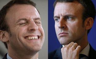 Macron qui rit, Macron qui pleure.