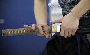 Illustration d'un Katana, le sabre des samouraïs japonais.