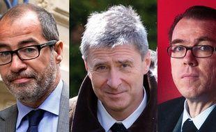 Les trois membres de l'UMP proches de Nicolas Sarkozy en garde à vue sont Philippe Blanchetier, Philippe Briand et Guillaume Lambert.
