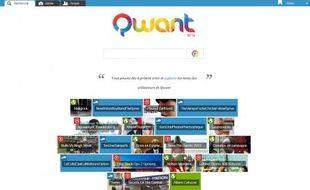 La homepage de Qwant indexe continuellement sous son champ de saisie les 20 infos qui font le buzz.