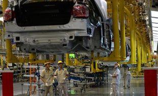 Une usine Volkswagen à Chengdu en Chine, le 6 juillet 2014