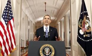 Barack Obama s'est exprimé peu après l'annonce de la validation de la loi sur l'assurance-maladie par la Cour suprême, le 28 juin 2012.