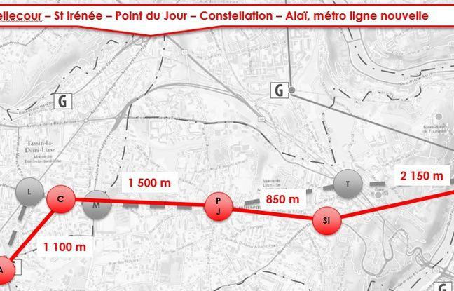Le Sytral étudie deux scénarios pour la réalisation de la ligne de métro E de Lyon, dont l'un reliant le quartier de Bellecour à celui d'Alaï.