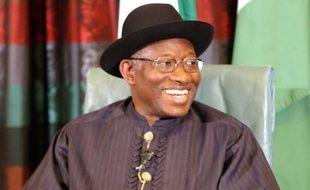 Le président du Nigeria Goodluck Jonathan à Abuja le 11 février 2015