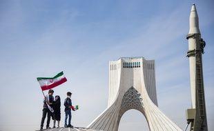 Un missile lors du 42e anniversaire de la révolution iranienne, à Téhéran le 10 février 2021.