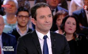 Benoît Hamon, sur le plateau de «L'Emission politique», jeudi 8 décembre.