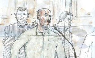 Croquis d'audience de Redoine Faïd le 1er mars 2016 devant la cour d'assises à Paris