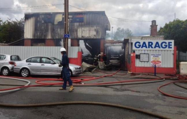 incendie clamart dans un garage