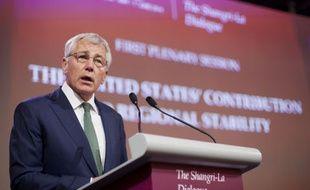 Le secrétaire américain à la Défense Chuck Hagel s'exprime à Singapour lors d'un forum sur la sécurité en Asie-Pacifique, le 31 mai 2014.