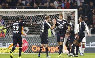 L'attaquant danois des Girondins Andreas Cornelius a inscrit son premier but de la saison samedi à Lyon.