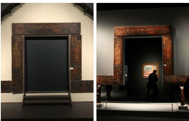 Le «Bois de la Maison du jouir» exposé à l'Art Institute de Chicago (à g) et au Grand Palais à Paris.